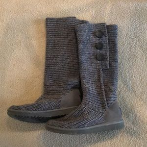 Gray Ugg Boots- Classic Cardy Boot
